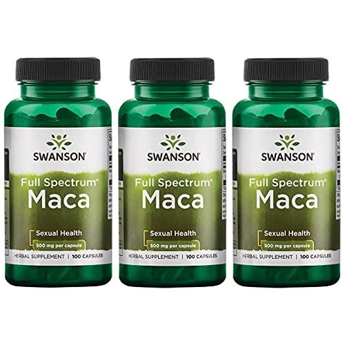 Swanson Maca 500 Milligrams 100 Capsules (3 Pack)