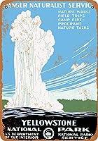 1938イエローストーン国立公園オールドフェイスフルコレクティブルウォールアートティンサイン