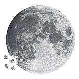 Designer Souvenirs - Puzzle Circular de la Luna para Adultos | 500 Piezas | con Forma Redonda y 48 cm de diámetro | Incluye Sticker de 48x48 cm para enmarcarlo