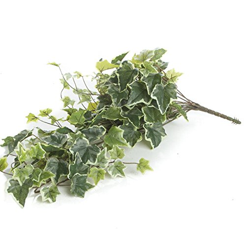 Factory Direct Craft Cascading Variegated Artificial Ivy Bush for Home Decor, Crafting and Displaying