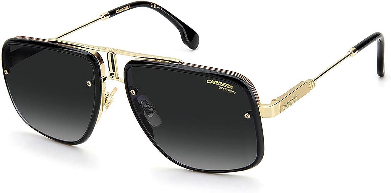 Carrera Sunglasses GLORY II RHL GOLD BLACK 59-18-145 Unisex/Metal/Rectangular