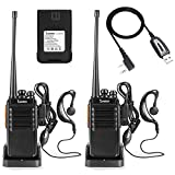 Seodon Walkie Talkies for Adults Long Range with One Extra 1500Mah Battery for Each Radio Rechargeable Two Way Radios with Programming Cable (2 Pack)