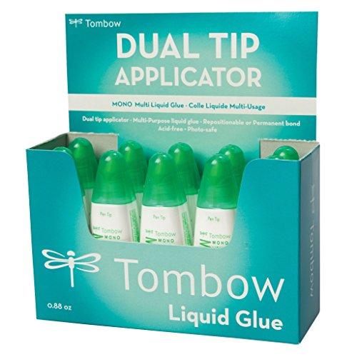 Tombow PT-MTC vloeibare lijm, Multi Talent met twee punten Voordeelverpakking 10 stuks. 10-er Pack (je 25 g) multicolor