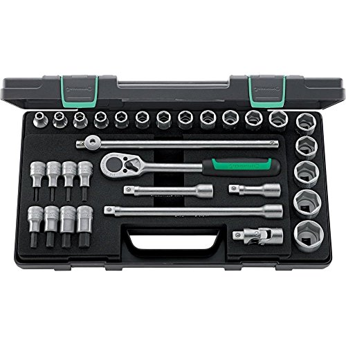 Stahlwille 96031239 Steckschlüsselgarnitur 31-teilig, im robusten, stapelbaren ABS-Kunststoffkasten