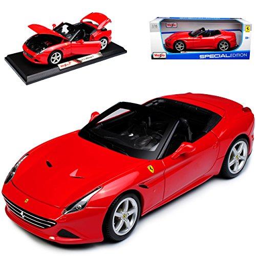 Maisto Ferrari California T Cabrio Rot 1/18 Modell Auto