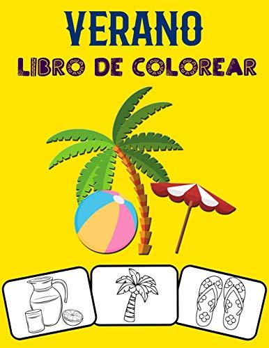 Verano Libro de colorear: ¡Colorea y diviértete! con este impresionante libro de colorear de verano. Apto para niños pequeños, niños, niños, niñas, jardín de infantes y preescolares.