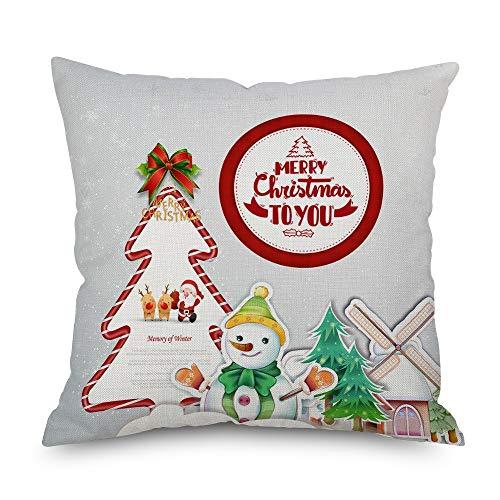 Decoración interior de Navidad de Navidad de lino almohada de coche sofá almohada cojín almohada cojín reposacabezas almohada