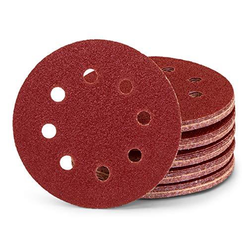 25 unidades / discos de lijado profesionales / 8 agujeros / diámetro 125 mm / grano 80 / para lijadora excéntrica / hojas de lija/papel de lija/almohadillas de lija.