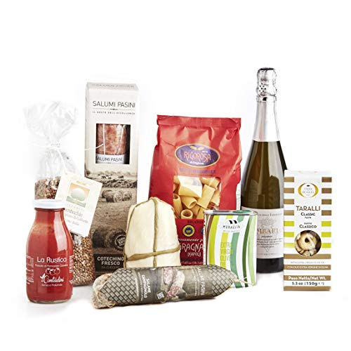 """Gift Hamper """"Flavours Harmony"""" gastronomic Basket, Gift Box with Typical Italian Products, Perfect for Birthday, Christmas or Any Other Occasion"""