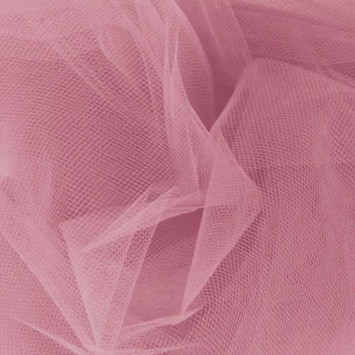108'' Apparel Grade Tulle Dusty Rose, Fabric by the Yard