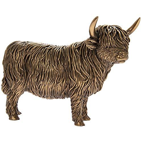 The Leonardo Collection Highland Cow - Bronzed effect finish