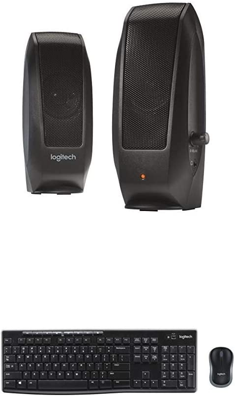 Logitech S120 2.0 Stereo Speakers and MK270 Wireless Keyboard and Mouse Combo