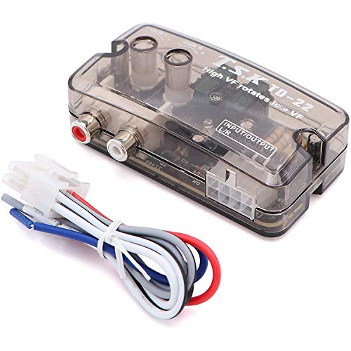 Greluma 1 pieze Convertidor de señal de retardo de Voz de Audio estéreo para Coche para Amplificador de subwoofer, Reproductor de CD, Adaptador de Graves con Cable de Control