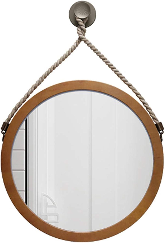 40-80cm Diameter Round Hanging Mirror Living Decoration Vanity Mirror Shaving Mirror Bathroom with Chain Wall Mirror
