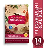 Rachael Ray Nutrish Premium Natural Dry Dog Food, Real Beef, Pea, & Brown Rice Recipe, 14 Lbs
