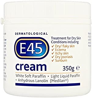 E45 Dermatological Cream Treatment for Dry Skin Conditions (350g) by E45