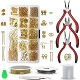 Yizunnu - Set di strumenti per la creazione e la riparazione di gioielli, con fili, pinze ...