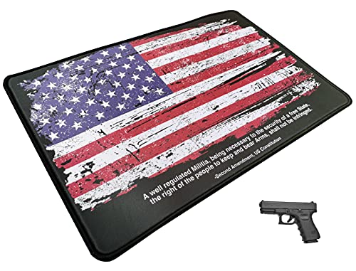 MAXXPRO Gun Cleaning Mat of Distressed American Flag with...