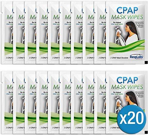 RespLabs CPAP-Masken Tücher - 20 Reise-Tücher