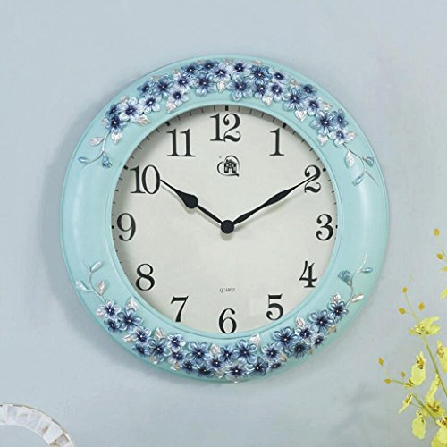 Bonne action Horloge murale Creative Horloge Murale Salon Européen Montres Moderne Minimaliste Art Horloge Ronde Mute Décoratif Horloge Murale Grand