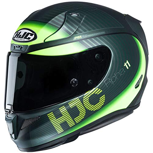 Casco moto HJC RPHA 11 BINE MC4HSF, Nero/Giallo, S
