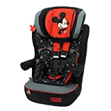 Mycarsit - Asiento para coche, Grupo 1/2/3(de 9a 36kg), diseño Mickey (Disney)