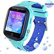 INIUPO Kids Smart Watch for Boys Girls with Game Music Phone SOS Call Camera Smartwatch for Kids Toys Birthday Gifts (Blue)