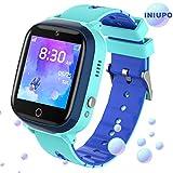 *INIUPO Rellotge Intel·ligent per a nens nenes Rellotge del telèfon Veure amb cambra de Joc de música per a Regals d'aniversaris per a nens (Blau)