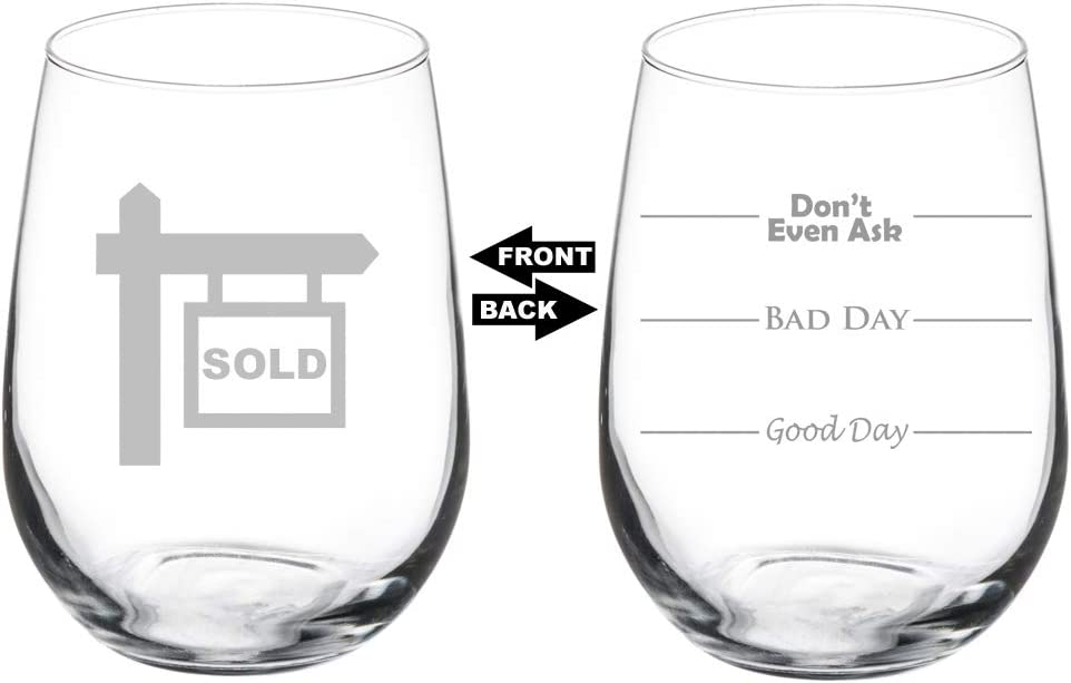Gift for realtor. Real estate wine glass Real estate agent gift Realtor wine glass Gift for real estate agent Realtor gift