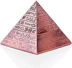 Rubbish Bin Ashtray Set Ashtray with lid pyramid interior engraving home office - B,Colour:B منفضة سجائر (Color : A)