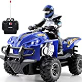 EDtara Elektromotorrad | Fernbedienung Motorrad - ferngesteuertes Quad Bike,ferngesteuertes Spielzeug Blau -