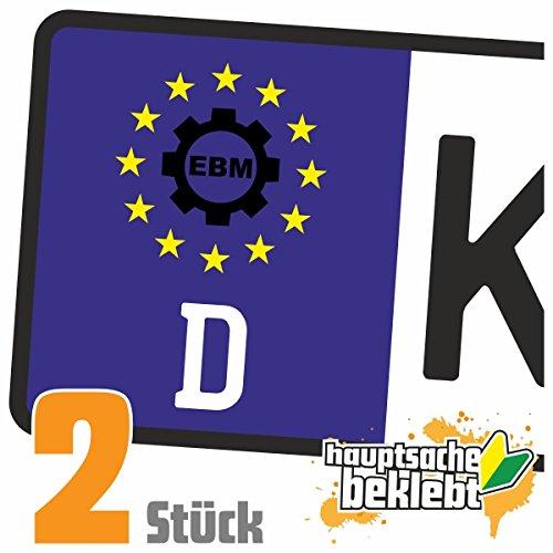 Ebm Zahnrad - Electro Body Music Kennzeichen Aufkleber Sticker Nummernschild - IN 15 FARBEN