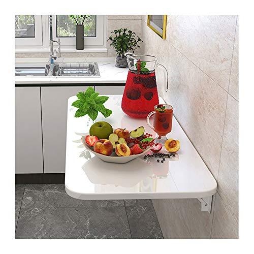 LWZ Mesa de Comedor de Cocina montada en la Pared, Plegable, Moderna Mesa Colgante Plegable para Dormitorio, baño, balcón y más, Color Blanco