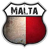 St574ony Vintage Road Tin Signs Malta Country Nation Flag