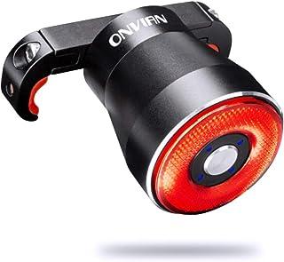 テールライト Onvian 自転車 ロードバイク リアライト スマートブレーキ警告ライト IP65防水 USB充電 22高輝度COB 夜間走行 簡単インストール 日本語説明書付属(Q5)