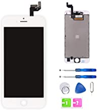 FFtopu Screen Replacement for iPhone 6S (4.7 Inch) White - LCD Display Screen + Touch Digitizer Assembly with Full Set Repair Tools and Screen Protector (iPhone 6S White)