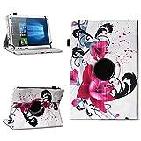 NAmobile Tablet Hülle kompatibel für TrekStor Surftab Breeze 10.1 Quad Tasche Schutzhülle Cover Drehbar Universal Hülle, Farben:Motiv 7