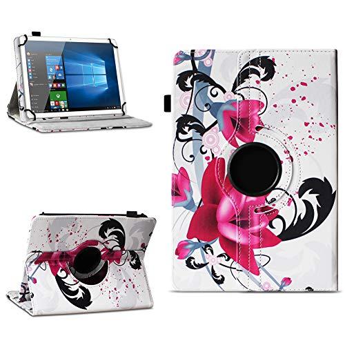NAmobile Tablet Tasche kompatibel für Lenovo Miix 320 310 Hülle Schutzhülle Tablettasche mit Standfunktion 360 Crad drehbar Universal Tablethülle, Farben:Motiv 7