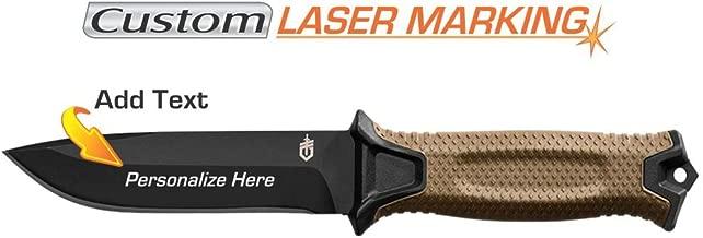 Custom Laser Engraved Gerber Strongarm Knife Coyote Brown Fine Edge Blade 30-001058