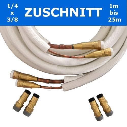 Quick-Connect Isoliertes Kupferrohr, Schnellkupplungen 1/4x3/8'' Zuschnitt