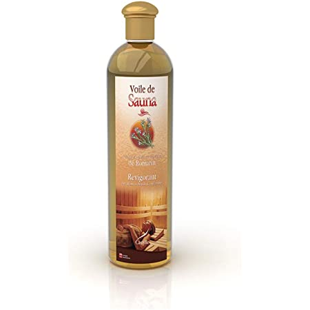 Camylle - Voile de Sauna Romarin - Fragrances à base d'Huiles Essentielles 100% Pures et Naturelles pour Sauna - Revigorant aux arômes chauds et enflammés - 250ml