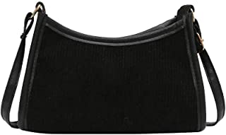 SANGSHI Y2K Bag Umhängetaschen, Damen Shopper Handtasche, Retro Frauen Achsel Tasche, Quadrat Reißverschluss Cord Umhänget...
