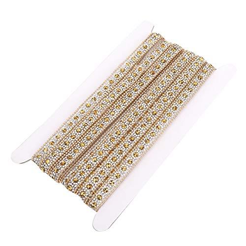 Brillante adhesivo de fusión en caliente cinta de diamantes de imitación bandas...