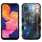 for Samsung Galaxy A10e Case, Galaxy A10e Hard+Rubber Dual Layer Hybrid Heavy-Duty Rugged Impact Cover Case - Iron Man Avengers Endgame #H