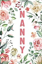 Sponsored Ad - NANNY: Nanny Notebook, Cute Lined Notebook, Nanny Gifts, Pink Flower, Floral