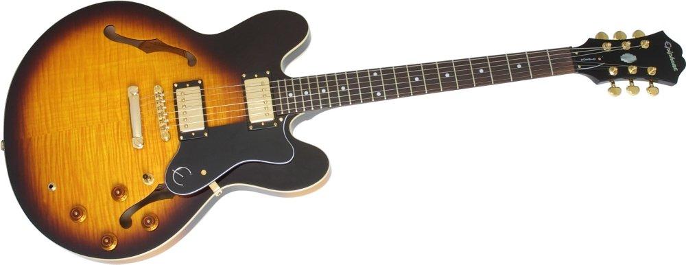 Cheap Epiphone Dot Deluxe Flametop Semi-Hollowbody Electric Guitar Vintage Sunburst Black Friday & Cyber Monday 2019