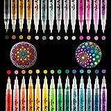 Rotuladores de Pintura Acrílica, 28 Rotuladores Permanentes de Colores Impermeable para Metal Huevo...