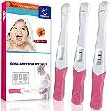 Schwangerschaftstest Frühtest,3er Pack mit HCG Teststreifen 10 miu/ml,Schwangerschaftstest Sicher und Schnell,über 99.9% Genauigkeit
