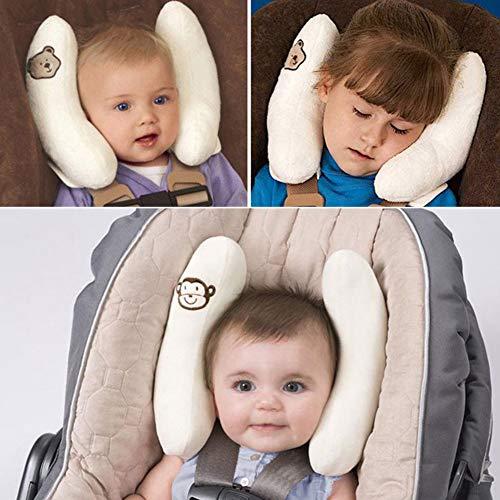 Einstellbare Kleinkinder und Baby-Ansatz Kopf Unterstützung, U-Form Kinder-Spielraum-Kissen-Kissen für Auto-Sitz, bietet Schutz Sicherheit für Kinder