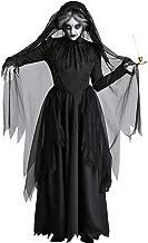 Jsmily Vestido De Halloween Cosplay Fantasma Mujer Disfraz De Bruja Fantasma Zombi Vampiro Novia Diosa De La Muerte Disfraz De Halloween (Color : Black, Size : XL)